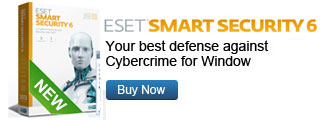 ESET Smart Security Software, Version 4.0, Home and Home Office Version, 1 Year, 1 User License